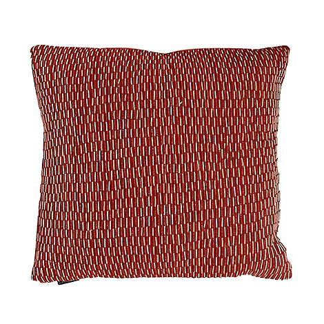 Betty Jackson.Black - Orange broken lines cushion