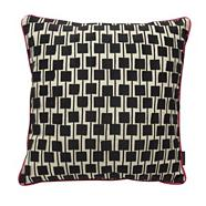 Designer pink square applique cushion