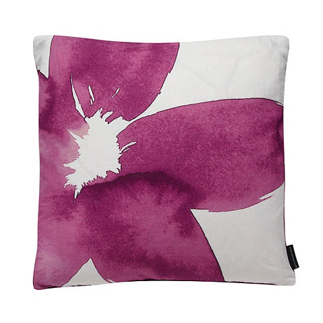 Betty Jackson.Black - Designer pink floral cushion