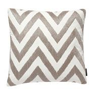 Designer silver metallic zig zag cushion