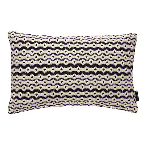 Betty Jackson.Black - Designer dark purple beaded cushion