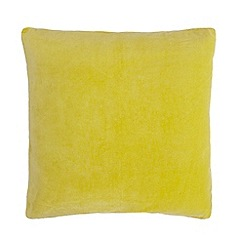 J by Jasper Conran - Yellow velvet cushion