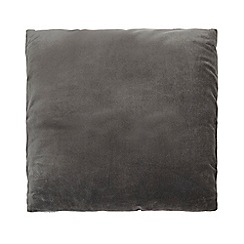 J by Jasper Conran - Grey velvet cushion