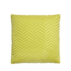 J by Jasper Conran - Yellow chevrons cushion