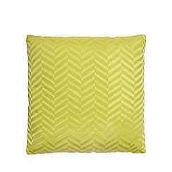 J by Jasper Conran - Yellow chevrons cushion