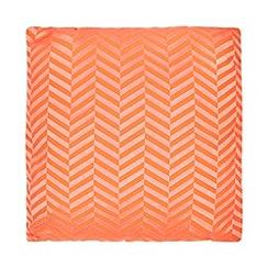 J by Jasper Conran - Orange chevron cushion