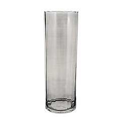 J by Jasper Conran - Large grey optic glass cylinder vase
