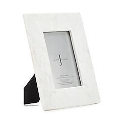 J by Jasper Conran - White marble photo frame