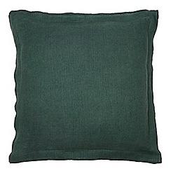 J by Jasper Conran - Dark green linen cushion