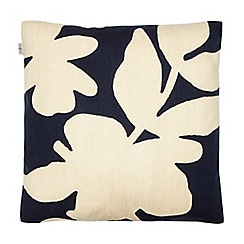 J by Jasper Conran - Navy abstract floral cushion