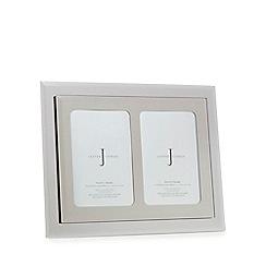 J by Jasper Conran - Silver glass mirror double photo frame