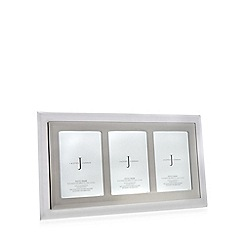 J by Jasper Conran - Grey glass mirror triple photo frame