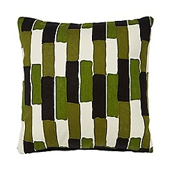 J by Jasper Conran - Multi-coloured painterly striped cushion
