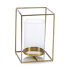 J by Jasper Conran - Large gold candle holder