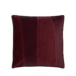J by Jasper Conran - Wine red stripe velvet cushion