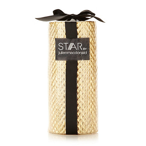 Star by Julien Macdonald - Designer gold textured pillar candle