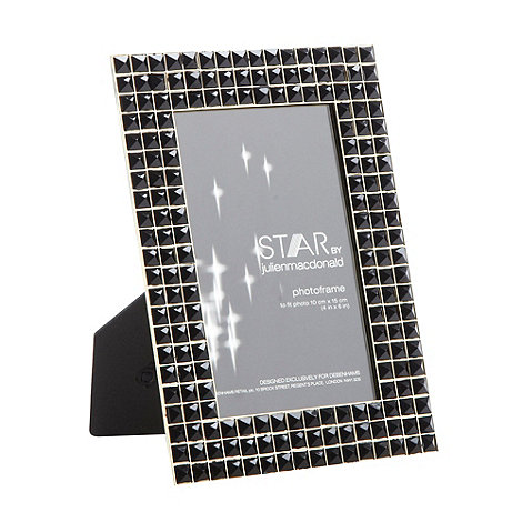 Star by Julien Macdonald - Designer black faceted pyramid 4x6 inch photo frame