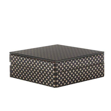 Star by Julien Macdonald - Designer black glass glitter star trinket box
