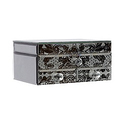 Star by Julien MacDonald - Designer mirror glitter lace trinket box
