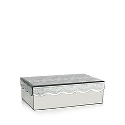 Star by Julien MacDonald - Designer silver scalloped glitter lace storage box