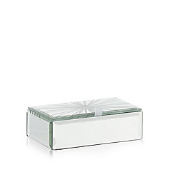 Star by Julien Macdonald - Silver glass etched line trinket box