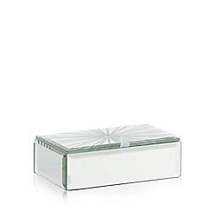 Star by Julien Macdonald - Designer silver glass etched line storage box