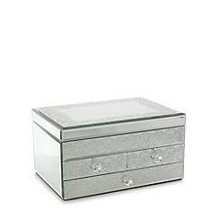 Star by Julien Macdonald - Designer glass large glitter lace storage box