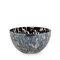 Star by Julien MacDonald - Designer black lustre confetti glass bowl