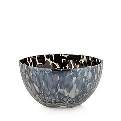 Star by Julien Macdonald - Designer black lustre confetti glass bowl