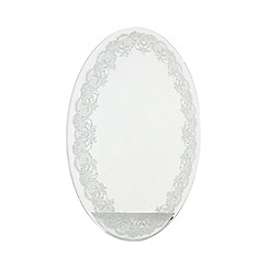 Star by Julien Macdonald - Designer glass glitter lace border mirror