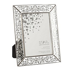 Star by Julien MacDonald - Designer silver scroll 5 x 7 inch photo frame