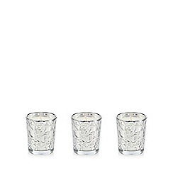 Star by Julien Macdonald - Set of three silver black vanilla scented votives