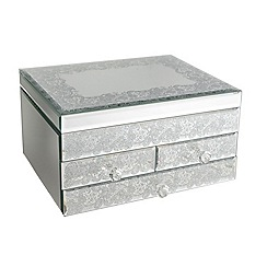 Star by Julien Macdonald - Large glass lace 4 drawer unit