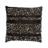 Designer black beaded cushion