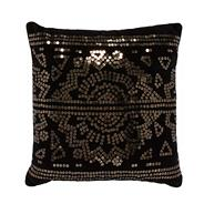 Designer black sequin cushion