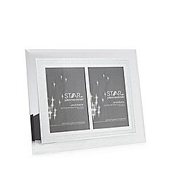 Star by Julien Macdonald - Glass glitter border double photo frame