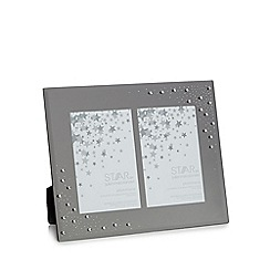 Star by Julien Macdonald - Glass diamante double photo frame
