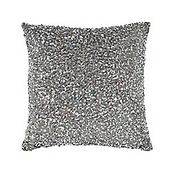 Star by Julien Macdonald - Grey sequin embellished cushion