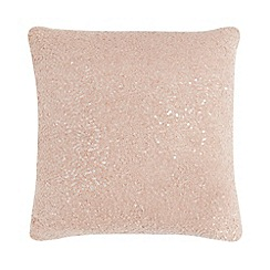 Star by Julien Macdonald - Pink boucle sequin cushion