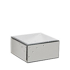Star by Julien Macdonald - Medium silver glass jewellery box