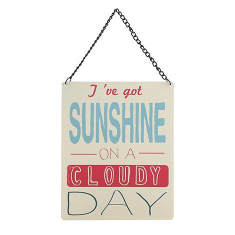 Ben de Lisi Home - Designer cream +Cloudy Day+ sign