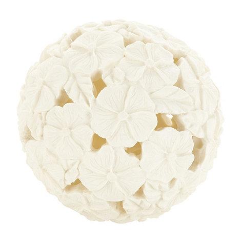 RJR.John Rocha - Designer ivory floral decorative ball