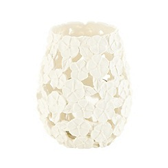 RJR.John Rocha - Designer ivory resin floral tealight holder