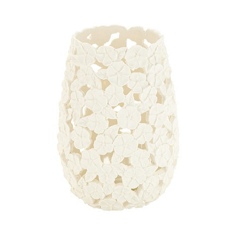 RJR.John Rocha - Designer large ivory floral tealight holder