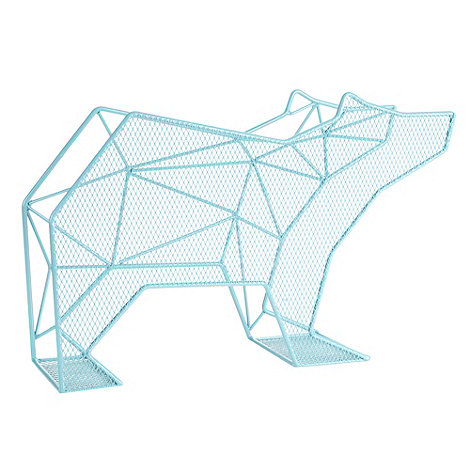Ben de Lisi Home - Designer blue polar bear magazine rack