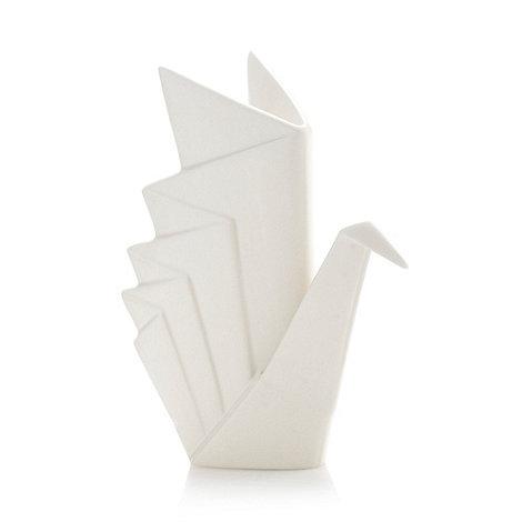 Ben de Lisi Home - Designer ceramic origami crane ornament