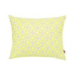 Ben de Lisi Home - Designer beige neon geometric bead cushion