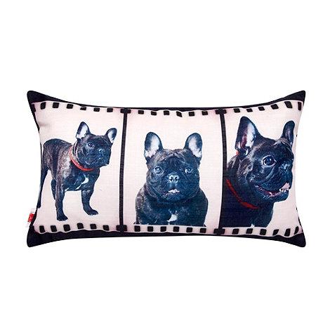 Ben de Lisi Home - Designer dark grey film reel dog cushion