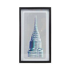 Ben de Lisi Home - Designer blue Chrysler frame print