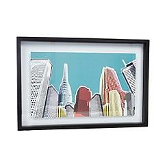 Ben de Lisi Home - Designer blue skyline framed print